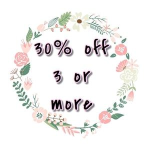 BUNDLE FOR 30% off